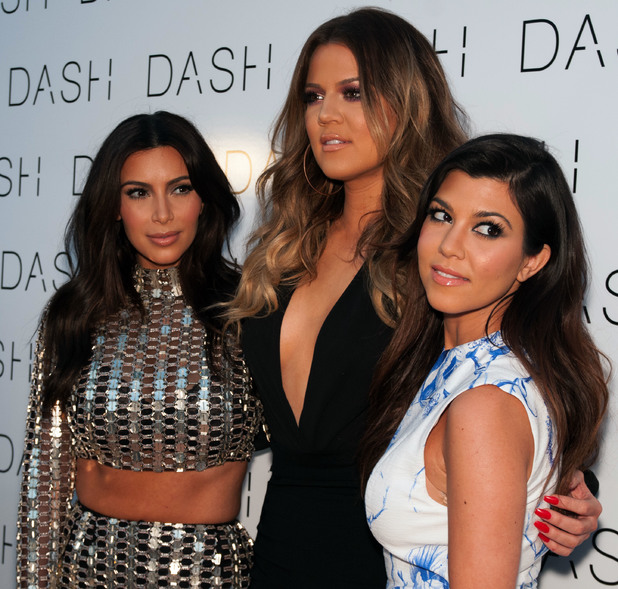 Kim Kardashian, Khloe Kardashian, Kourtney Kardashian - The Kardashians at the Grand Opening of DASH Miami Beach at Dash Miami Beach 03/12/2014