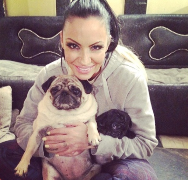 Jodie Marsh posts photos of her new pug Marshall - March 2014