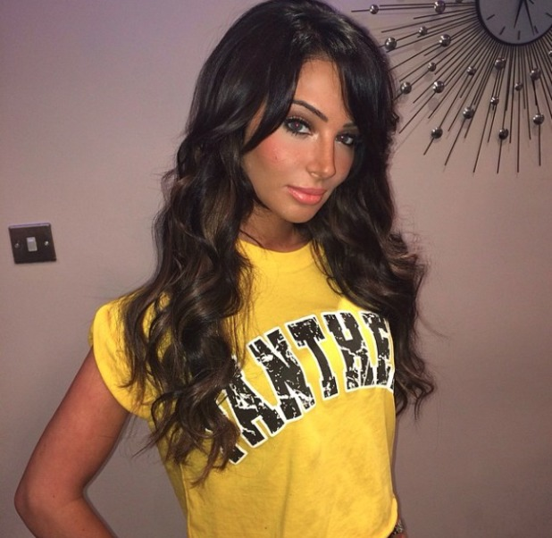 Tulisa shows off her new hair extensions, 11 March 2014