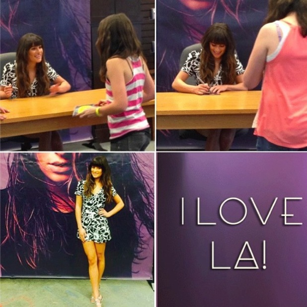 Lea Michele at the signing for her new album Louder in Los Angeles, America - 8 March 2014