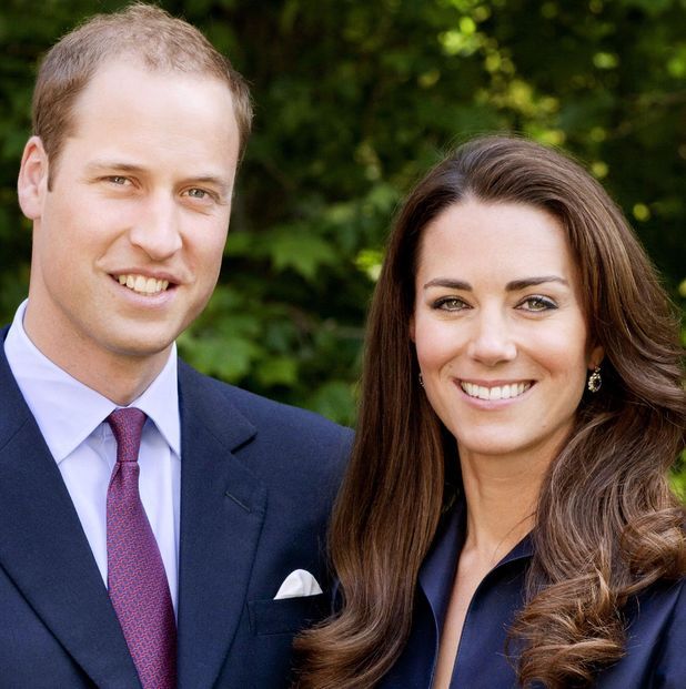 Prince William and Catherine Duchess of Cambridge in the gardens of Clarence House