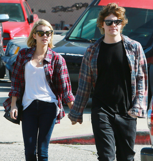 Emma Roberts and Evan Peters out in West Hollywood, Los Angeles - 10 February 2014