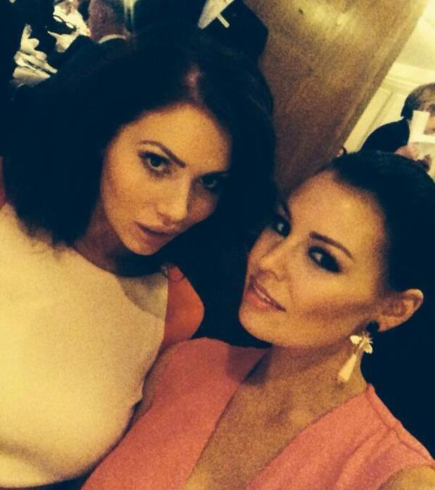 Jess Wright and Amy Childs pose at the TRIC Awards