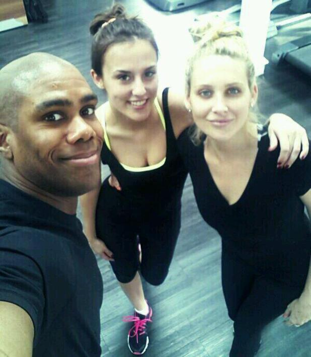Lucy Watson and Stephanie Pratt workout in the gym - 10 March 2014