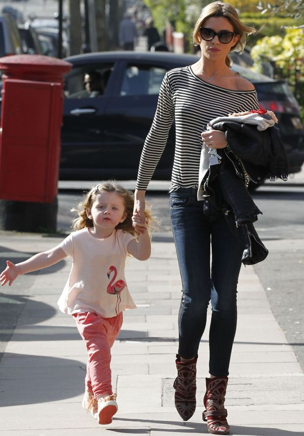 Abbey Clancy with daughter Sophia