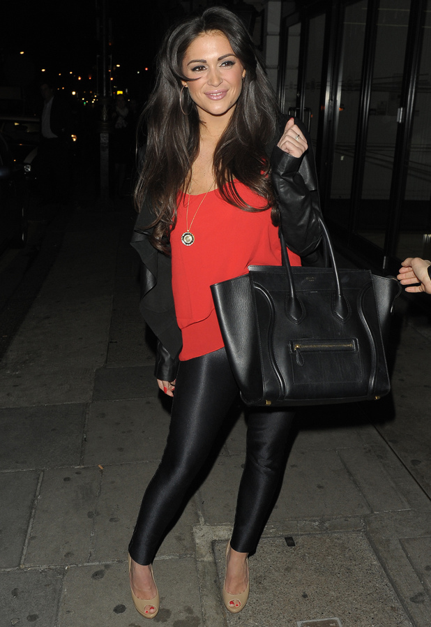 Casey Batchelor leaves Nobu restaurant, London - 12 March 2014