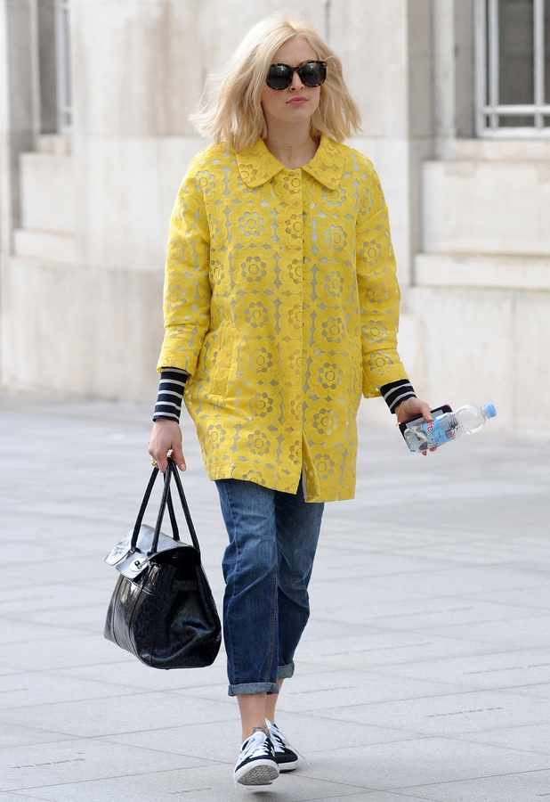 Fearne Cotton makes her way to the Radio 1 studios in London, England - 13 March 2014