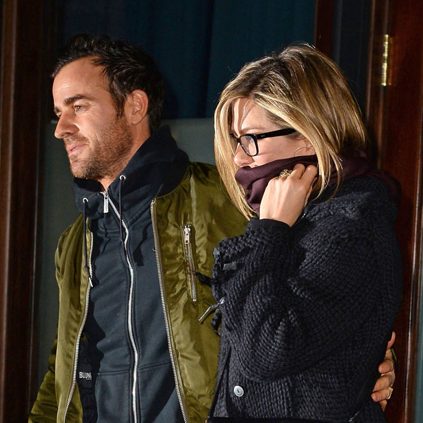 Jennifer Aniston and Justin Theroux out and about, New York, America - 11 Mar 2014