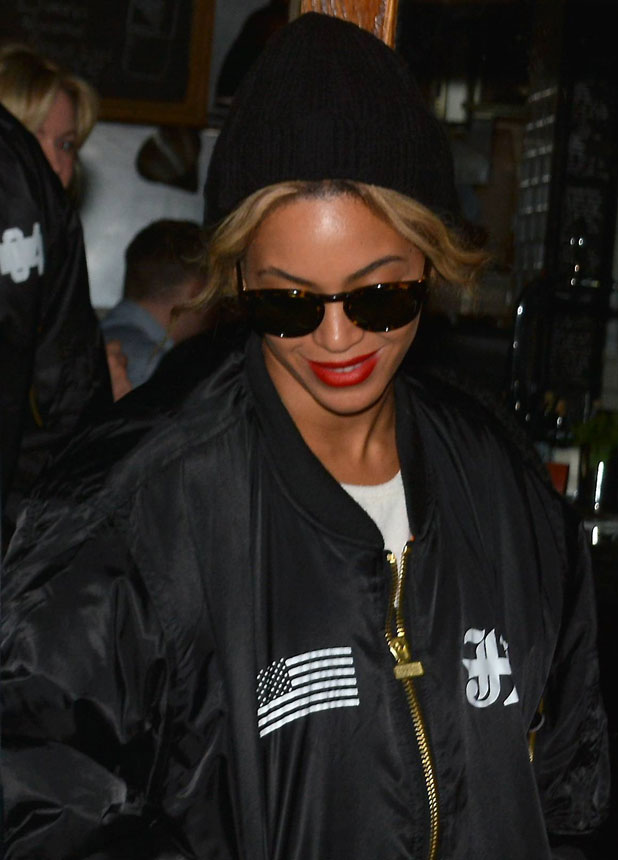 Beyonce and husband Jay Z leaving Mediterranean restaurant Coppinger Row, 10 March 2014