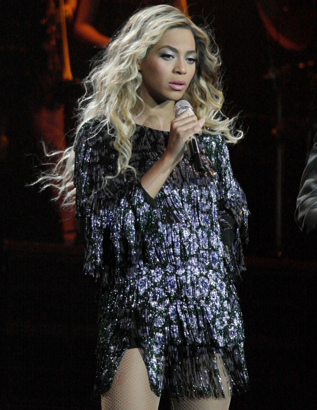 Beyonce performs live in concert at the O2 during 'The Mrs. Carter Show World Tour', London, 5 March 2014