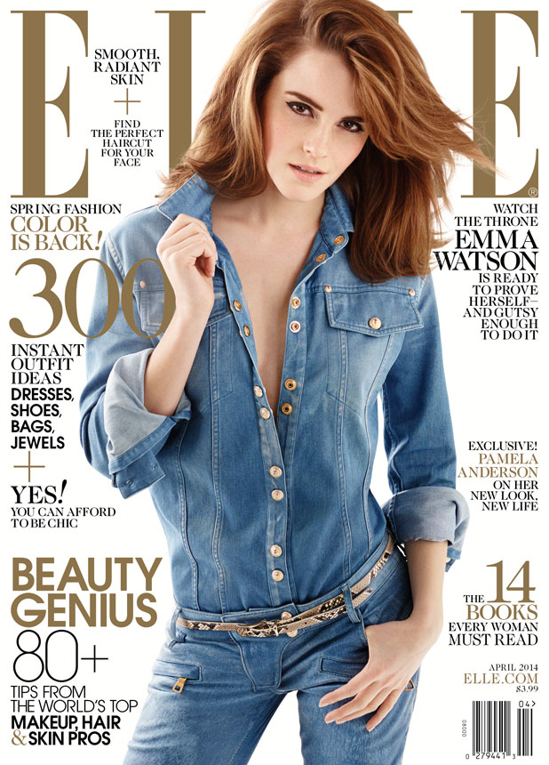 Emma Watson poses on cover of ELLE US issue for April 2014