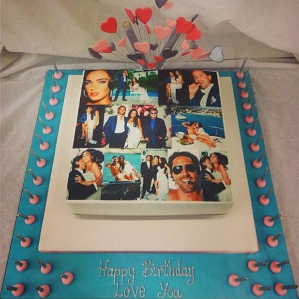 Tamara Ecclestone's birthday cake for husband Jay Rutland, 11 March 2014