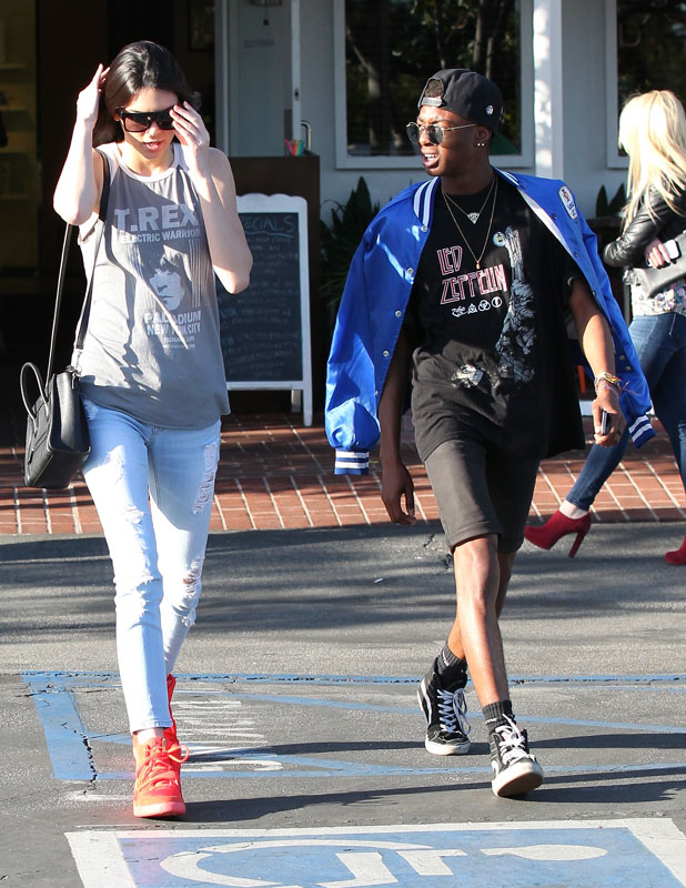Kendall Jenner and a friend leaving Cafe Mauro at Fred Segal on Melrose in west Hollywood, 12 March 2014