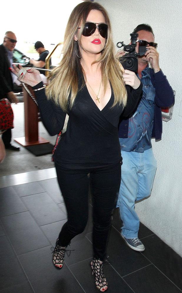 Khloe Kardashian at LAX airport, Los Angeles, America - 11 Mar 2014