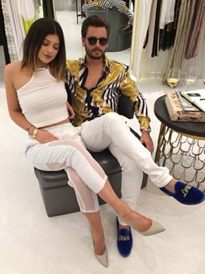 Kylie Jenner and Scott Disick at the Kardashian 'Dash' store opening, Miami, America - 12 Mar 2014