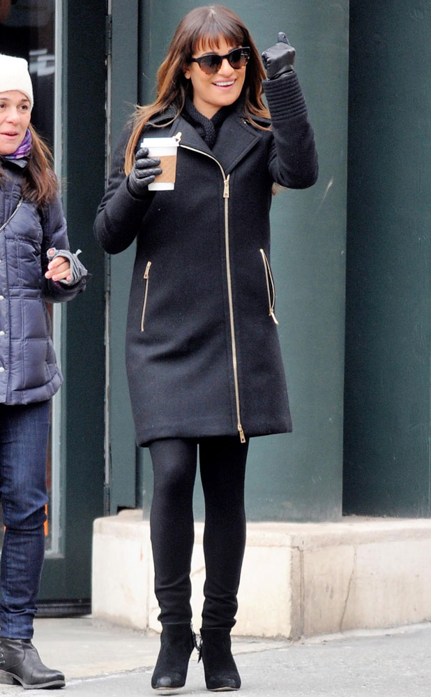 Lea Michele out and about in New York, America - 14 Mar 2014