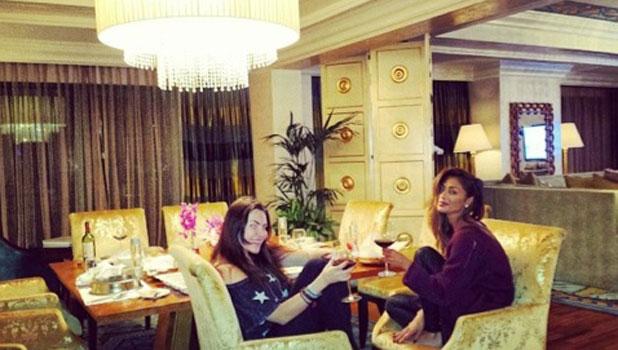Nicole Scherzinger enjoys a holiday in Dubai with her girlfriends, March 2014