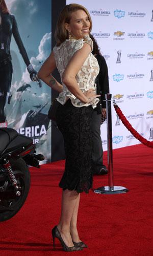 "Scarlett Johansson, ""Captain America: The Winter Soldier"" - Los Angeles Premiere At El Capitan Theatre, 13 March 2014"
