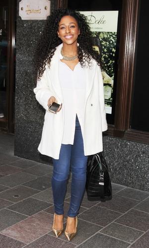 Former X Factor winner Alexandra Burke spotted shopping at Harrods 03/18/2014 London, United Kingdom