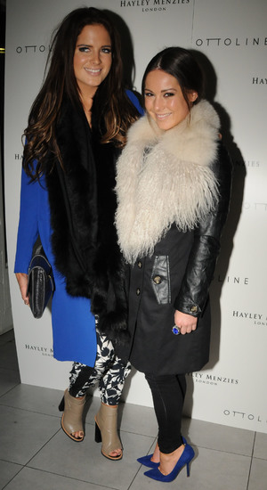 Binky Felstead and Louise Thompson at the Hayley Menzies & Ottoline shop launch party 03/19/2014 - London, United Kingdom