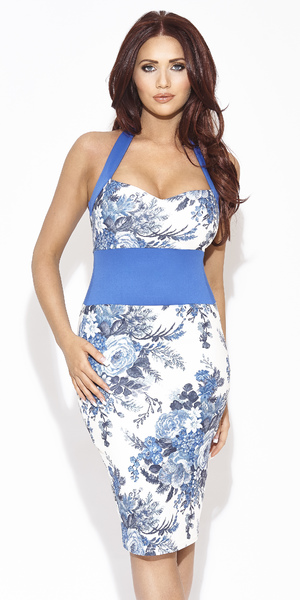 Amy Childs models her spring 2014 clothing collection - Madeline dress, £70