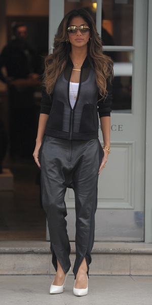 Nicole Scherzinger leaves London hotel after meetings 17 March