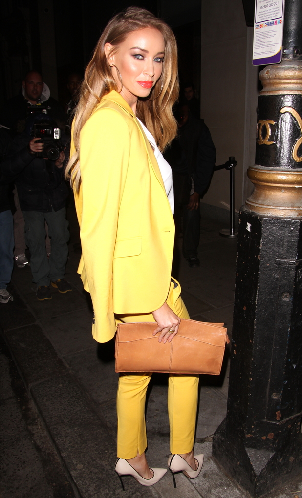 TOWIE's Lauren Pope at Nobu restaurant in Mayfair, London - 18 March 2014