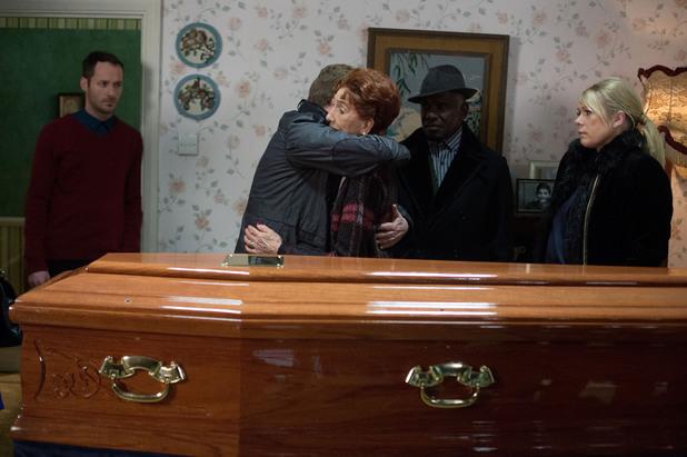 EastEnders, Nick's coffin arrives, Tue 25 Mar