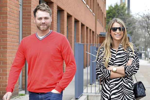 Brian McFadden and wife Vogue leave ITV, March 17