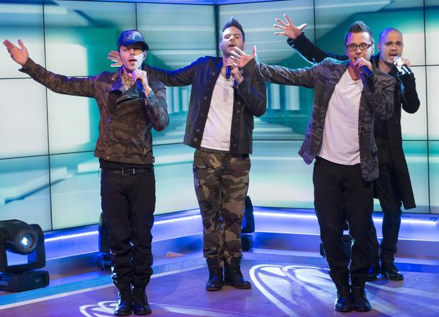 Five - Abz Love, Scott Robinson, Ritchie Neville and Sean Conlon -'Lorraine Live' TV Programme, London, Britain. - 15 May 2013