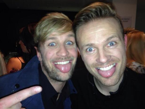 Kian Egan and Nicky Byrne take a selfie after appearing on Ant and Dec's Saturday Night Takeaway (16 March).