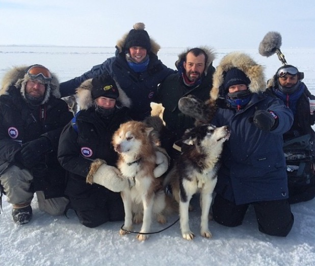 Charlotte Crosby in the Arctic filming for new reality show, The Charlotte Crosby Experience. (18 March).
