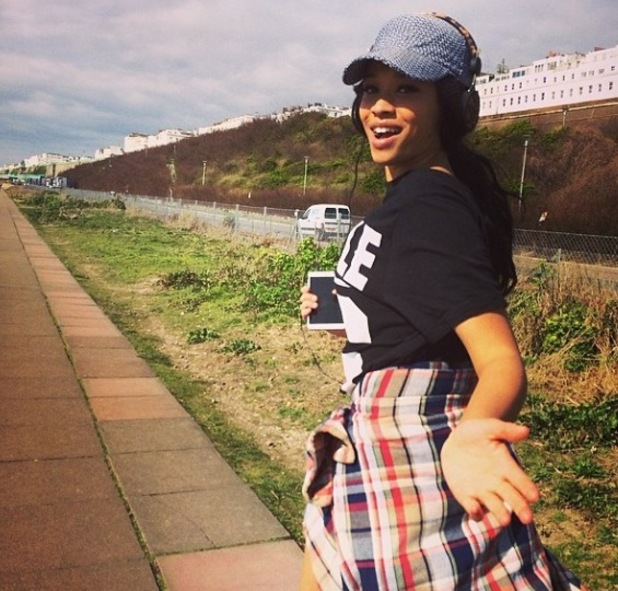 Tamera Foster going for a jog in Brighton (17 March).