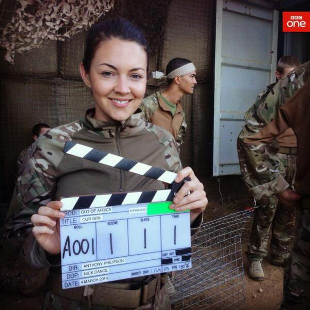 Lacey Turner films new series of Our Girl for the BBC - 19 March 2014