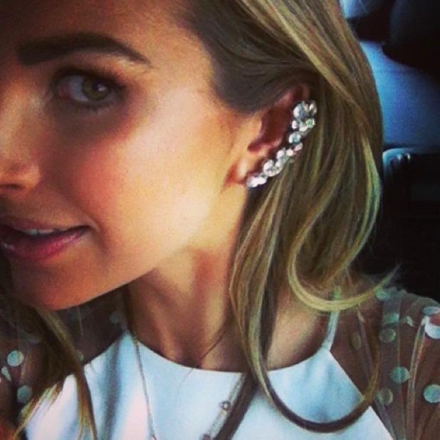 Vogue Williams shows off River Island ear cuff, 23 March 2014