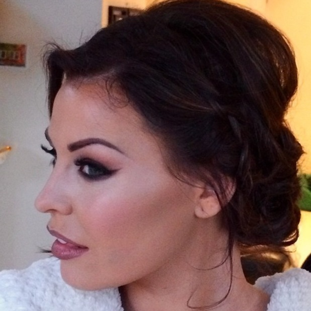 TOWIE's Jessica Wright shows off a make-up look by Krystal Dawn - 16 March 2014
