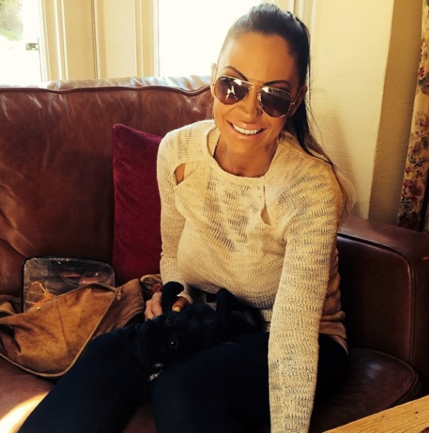 Jodie Marsh shares pictures of her dogs Marshall and Peggy Sue - 19 March 2014