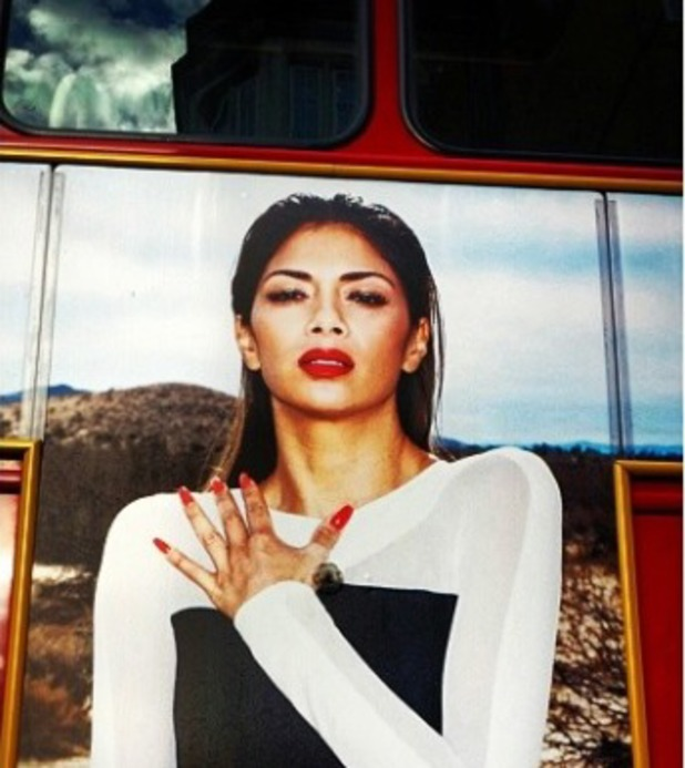 Nicole Scherzinger picture of herself on a London bus, March 17