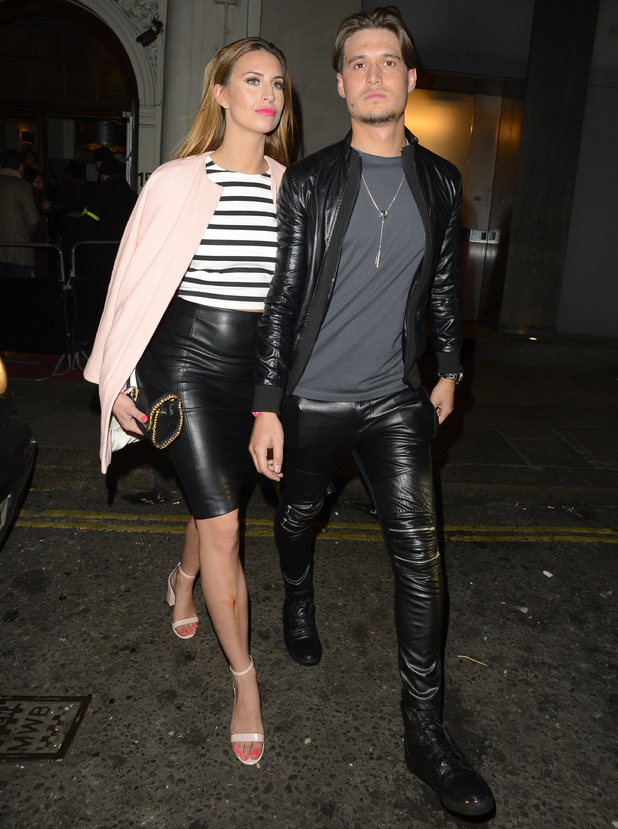 Ferne McCann and Charlie Sims outside Funky Buddha in London - 18 March 2014