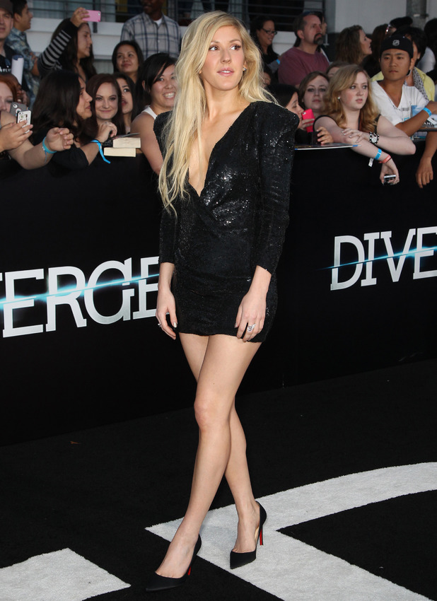 """Ellie Goulding at the premiere Of Summit Entertainment's """"Divergent"""" At the Regency Bruin Theatre 03/19/2014 Los Angeles, United States"""
