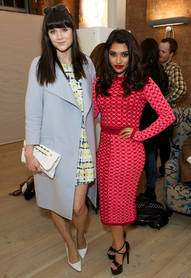Vanessa White and Lilah Parsons step out at the launch of the Very.co.uk spring/summer '14 collection in Soho, London - 19 March 2014