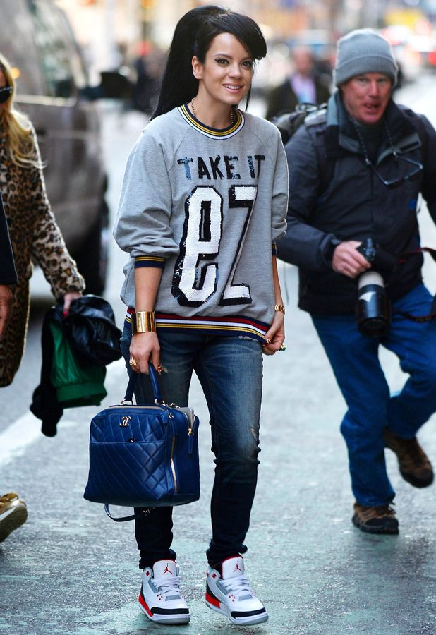 Lily Allen out in New York, America - 18 March 2014