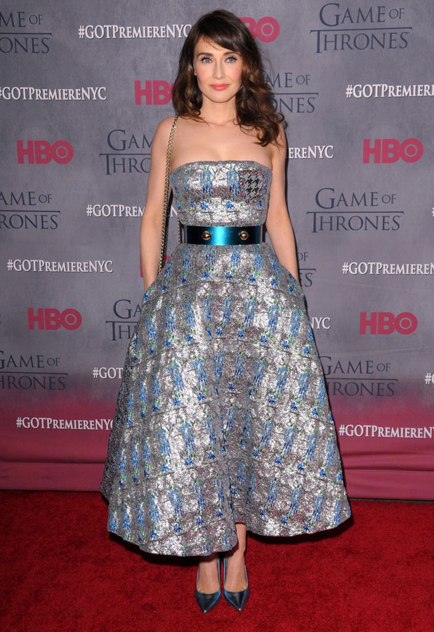 """Carice van Houton, New York Premiere of The Fourth Season of """"Game of Thrones"""" - Red Carpet Arrivals, 18 March 2014"""
