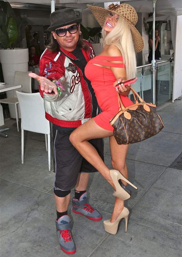 Courtney Stodden shops in Beverly Hills and poses with her friend Rick Mendoza from the film Sellebrity, 15 March 2014