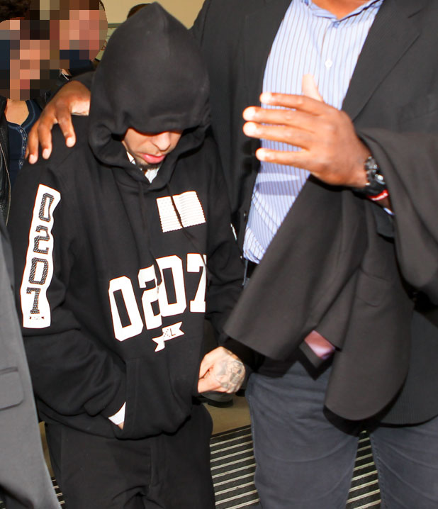 Dappy leaves Chelmsford Magistrates Court after pleading not guilty to assault, 18 March 2014
