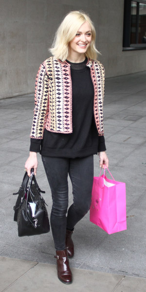 Fearne Cotton in Topshop jacket on 19 March 2014