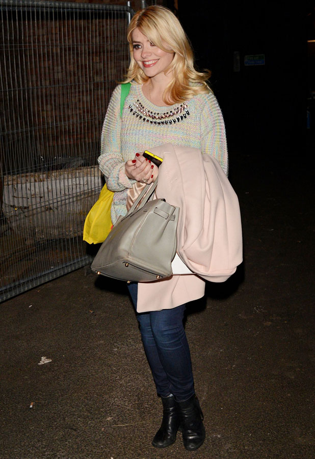 Holly Willoughby leaving 'Celebrity Juice' TV show recording, Riverside Studios, London, Britain - 19 Mar 2014
