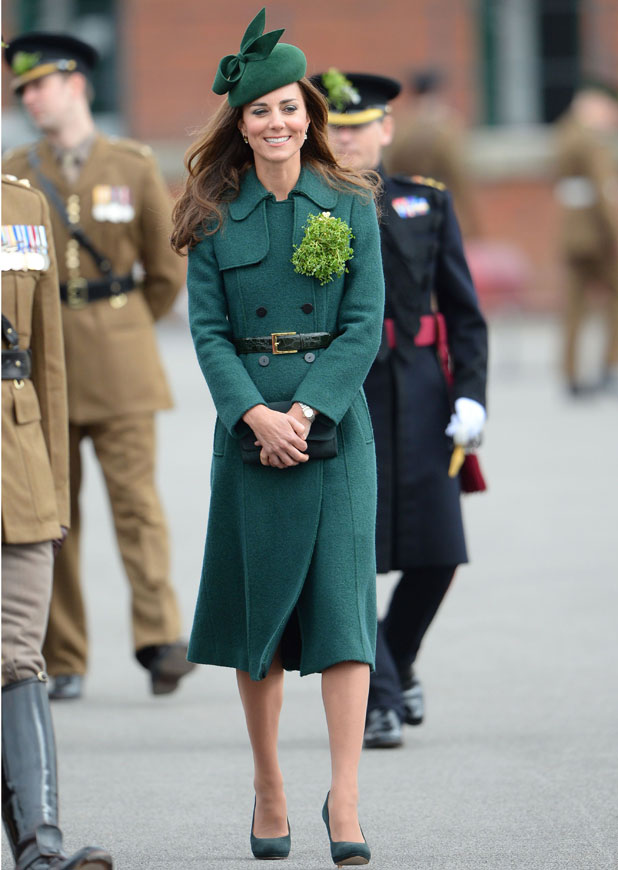 Kate Middleton and Prince William attend the St Patrick's Day Parade in Aldershot, 17 March 2014