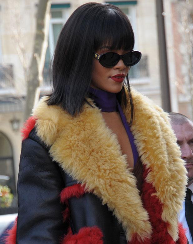 Rihanna, Paris Fashion Week Autumn/Winter 2014 - Miu Miu, 5 March 2014