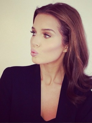 Helen Flanagan pouts for a selfie, 23 march